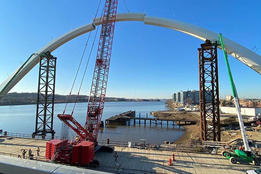 Innovating Construction Safety While Rebuilding The Frederick Douglas Memorial Bridge