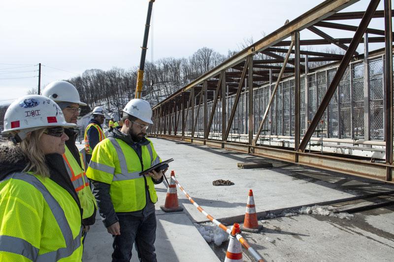 Leesport, Pennsylvania State Route 1003 Pedestrian Bridge Background