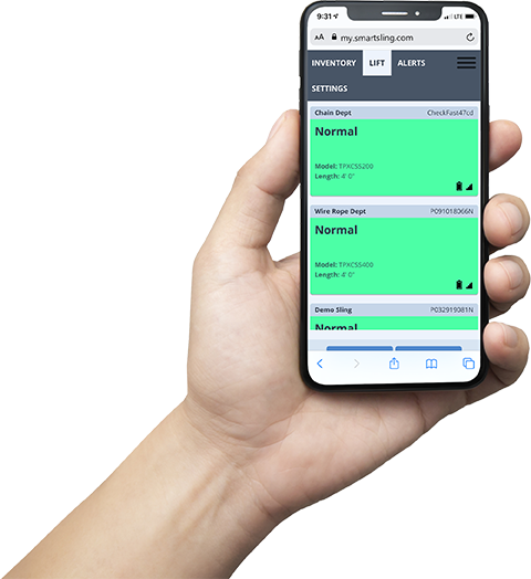 Smart Sling technology Software being used on smart phone